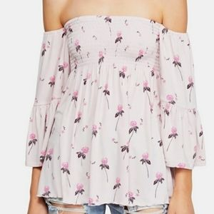 Free People Cloud Berry Lilac Top NWT
